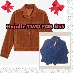 🎄 NWT 2 FOR $55 CORDUROY JACKETS PLUS SIZE
